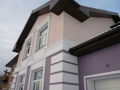 Мокрая отделка фасада дома