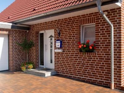Пример облицовки фасада дома