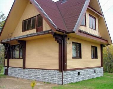Пример внешней отделки дома