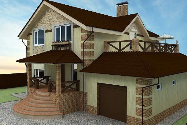 Фото фасадов загородных домов и коттеджей