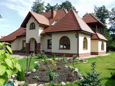 Пример цветового оформления фасада дома