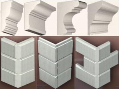 Элементы фасадного декора из пенопласта