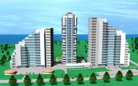 Современные фасады многоэтажных домов