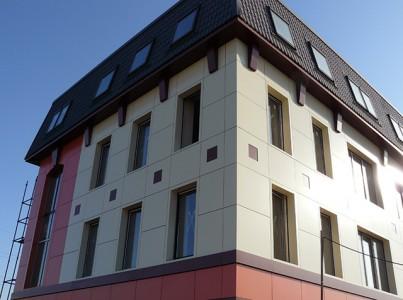 Вентилируемый фасад многоэтажного дома