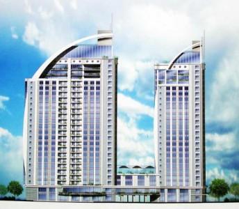 Пример фасада многоэтажного жилого дома