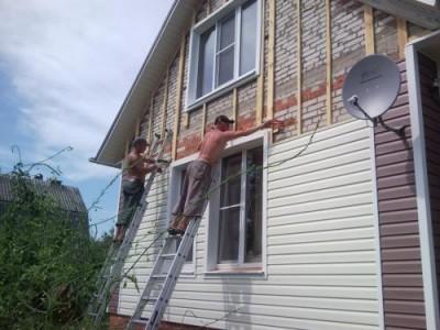 Обрешетка для монтажа сайдинга на фронтон