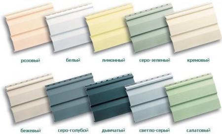 Цветовая гамма винилового сайдинга