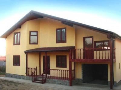 Пример отделки фасада частного дома