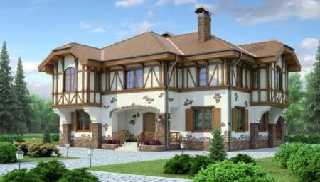 Пример архитектурного стиля частного дома