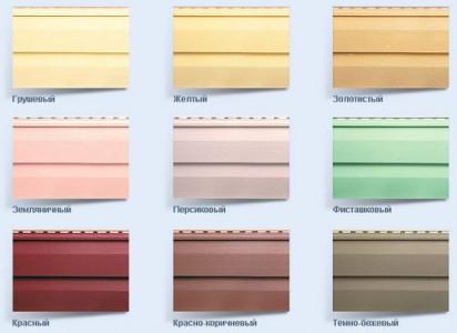 Цветовая гамма пвх сайдинга