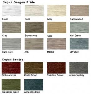 Возможные цвета пвх панелей сайдинга