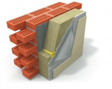 Схема утепления фасада базальтовыми плитами