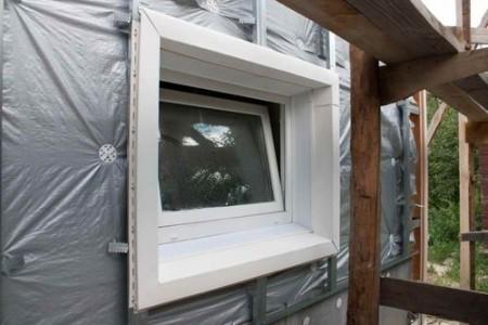 Пример отделки окна сайдингом