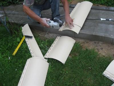 Подготовка листов сайдинга для монтажа