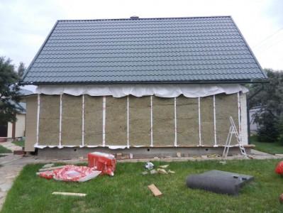 Процесс утепление минеральной ватой дома