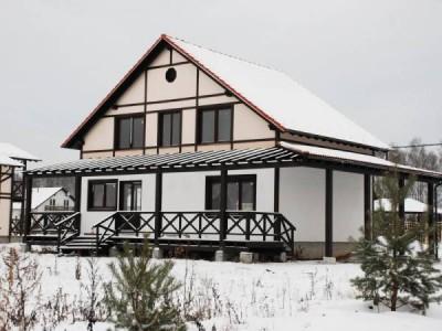 Пример дома в стиле фахверк
