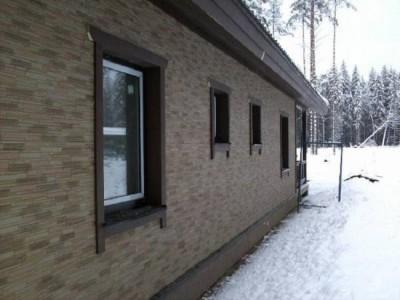 Пример отделки дома керамическим сайдингом