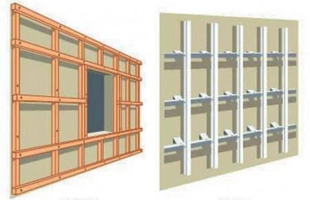 Обрешетка для монтажа материалов на фасад дома