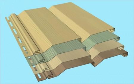 Пример листового сайдинга для наружных работ