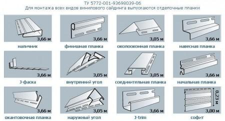 Дополнительные элементы используемые при монтаже сайдинга
