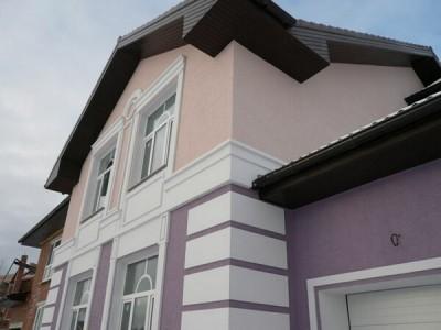 Пример оштукатуренного дома