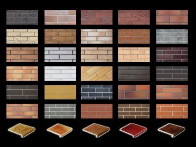 Типы фасадной плитки под клинкерный кирпич