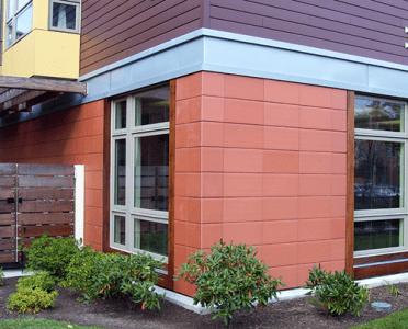 Керамогранитная плитка на фасаде дома