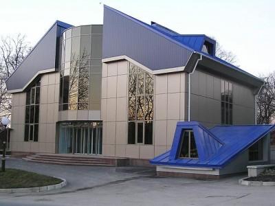 Фасад алюкобонд на частном особняке