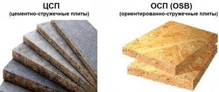 Плиты ЦПС и ОСП