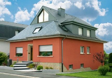 Отделка фасадными фиброцементными плитами с последующей покраской акриловой краской