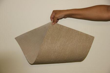 Пример листа гибкой фасадной керамики