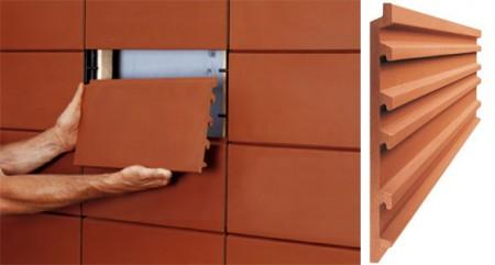 Пример укладки гибкой керамики на фасад дома