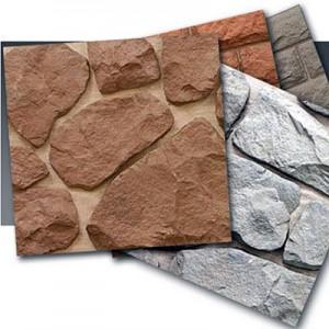 Готовая плитка с наклеенными элементами из камня