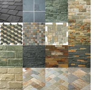 Различные виды плитки из натурального камня