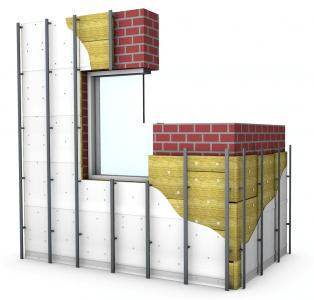 Схема монтажа вертикальной обрешетки