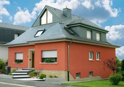 Фасад, окрашенный акриловой краской