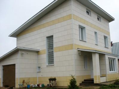 Вентилируемый фасад на частном доме