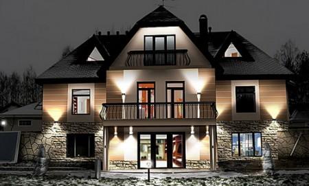 Удачный пример фасадного освещения