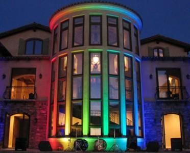 Пример динамичного освещения здания