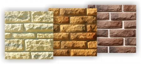 Панели, имитирующие природный камень