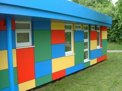 Дачный домик. облицованный панелями hpl