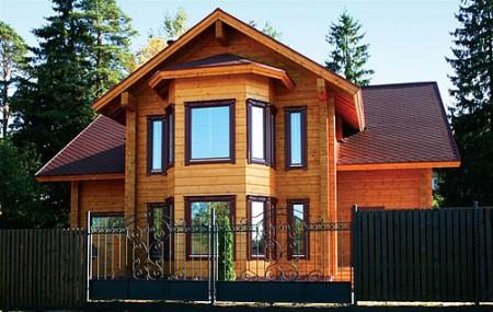 Вентилируемый фасад - имитация бруса