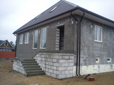 Оштукатуривание дома из газобетонных блоков