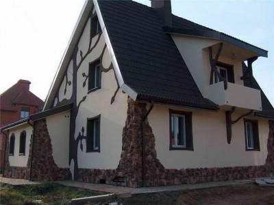 Художественная отделка дома: штукатурка, камень, деревянный декор