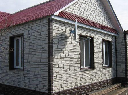 Готовая отделка дома фасадными панелями