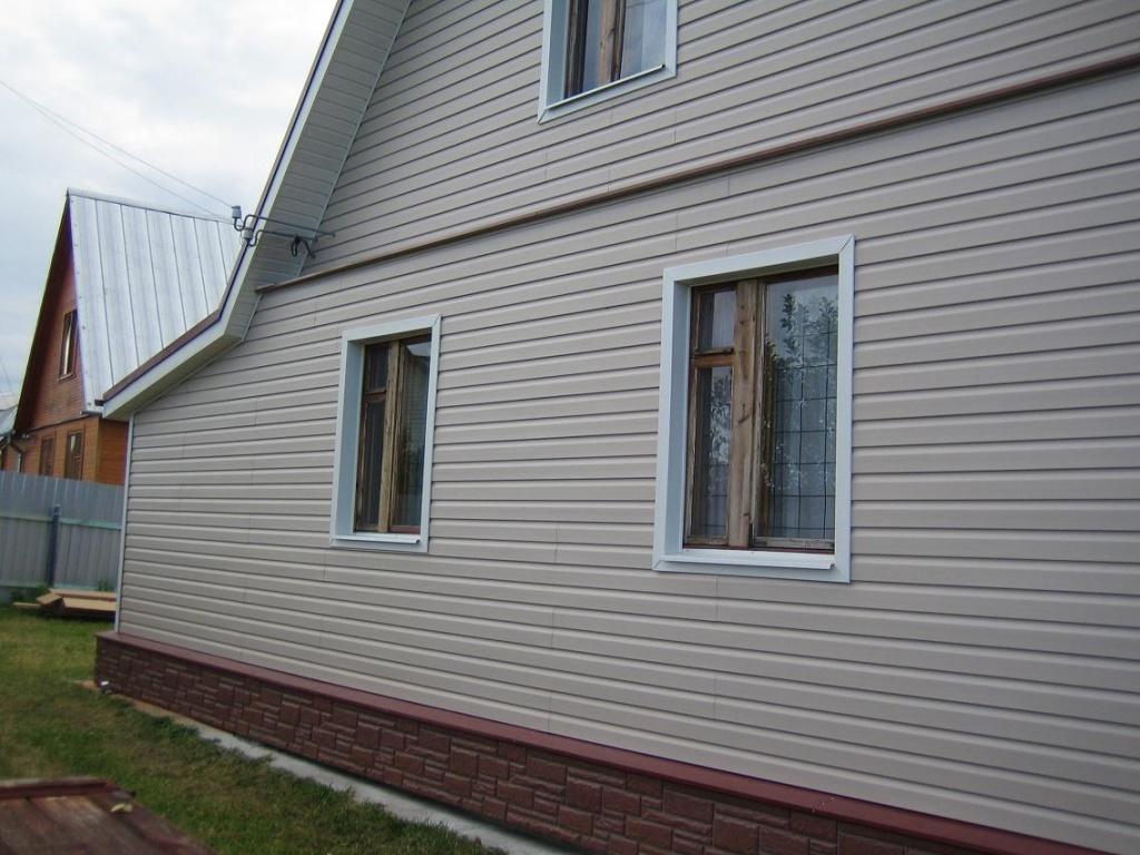 Облицовка дома виниловыми панелями