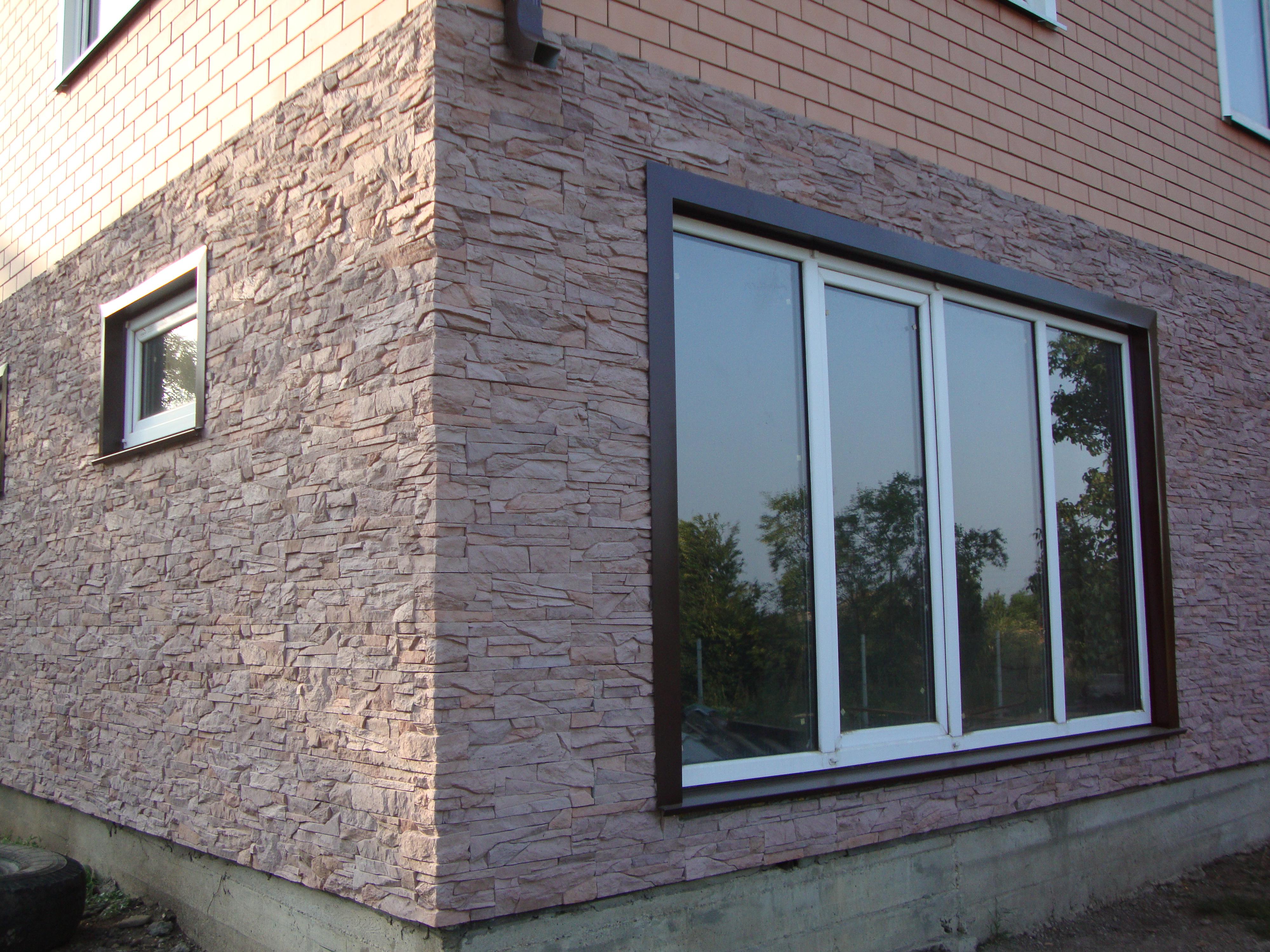 Варианты отделки фасада камнем